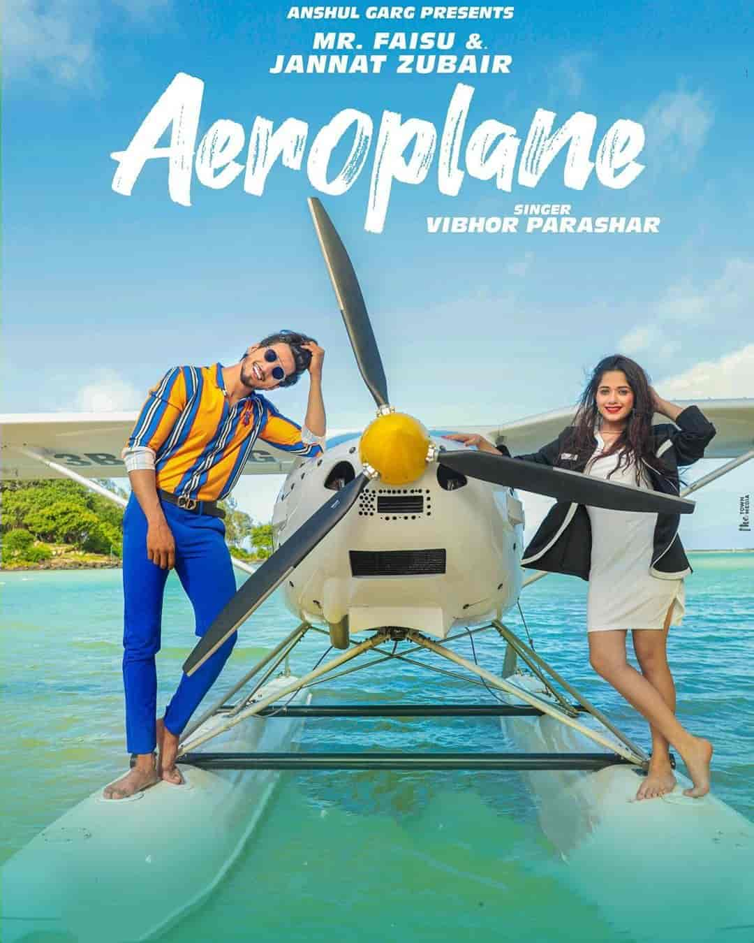Aeroplane Punjabi Song Image Features Jannat Zubair and Mr Faisu