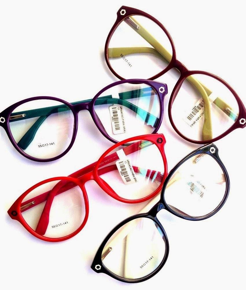 a2c60faa236bb Loucos por Óculos  Armações Coloridas