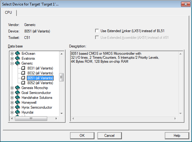 C-exercise: First exercise using Keil uVision 4 for 8051