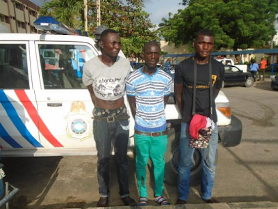 Photos: RRS arrests 3 suspected robbers, recovers 2 master keys in Lagos