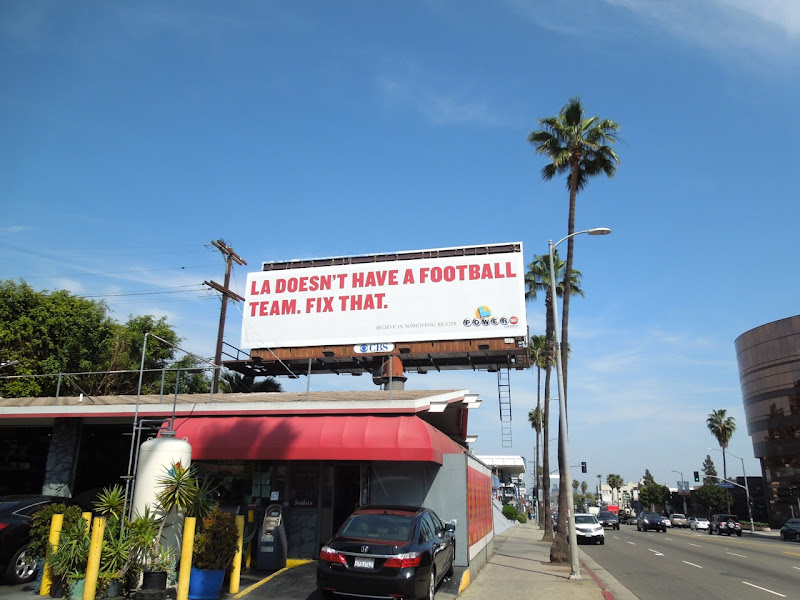 LA doesnt have football team Powerball Lottery billboard