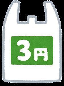 有料レジ袋のイラスト(3円)