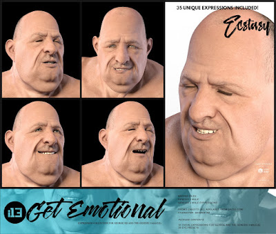 i13 Get Emotional Expressions for the Genesis 3 Male