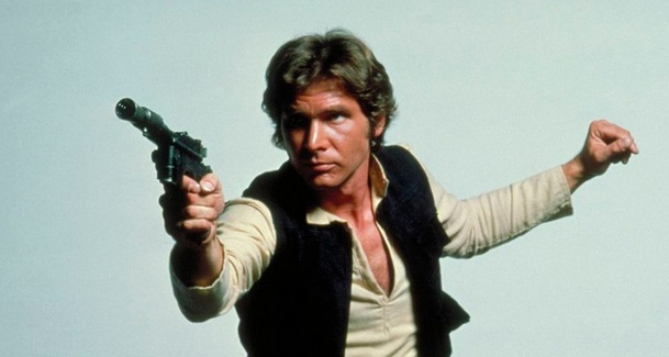 Han Solo pistol pose from A New Hope