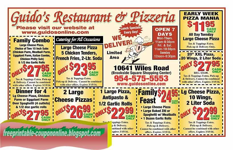 Printable Coupons 2020 Guidos Pizza Coupons