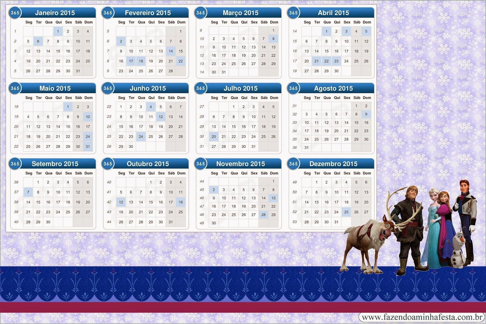 Frozen Calendario 2015.