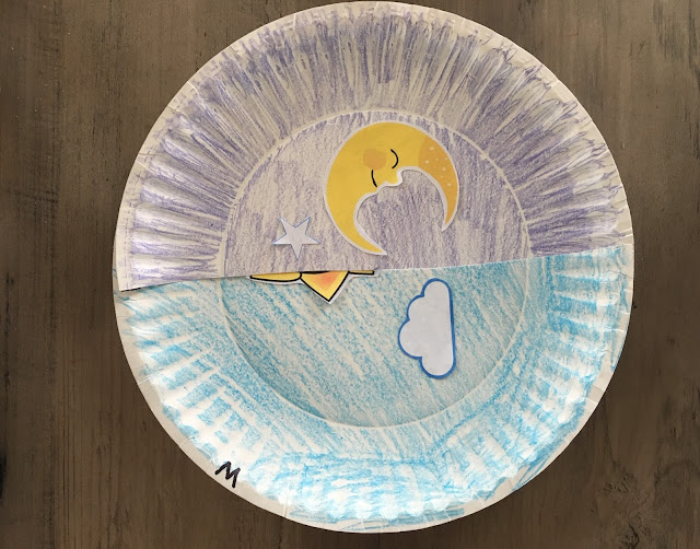 Two paper plates, printable clipart, scissors, glue, and crayons is all you'll need to explain the lengthening day and night cycle to your learners.