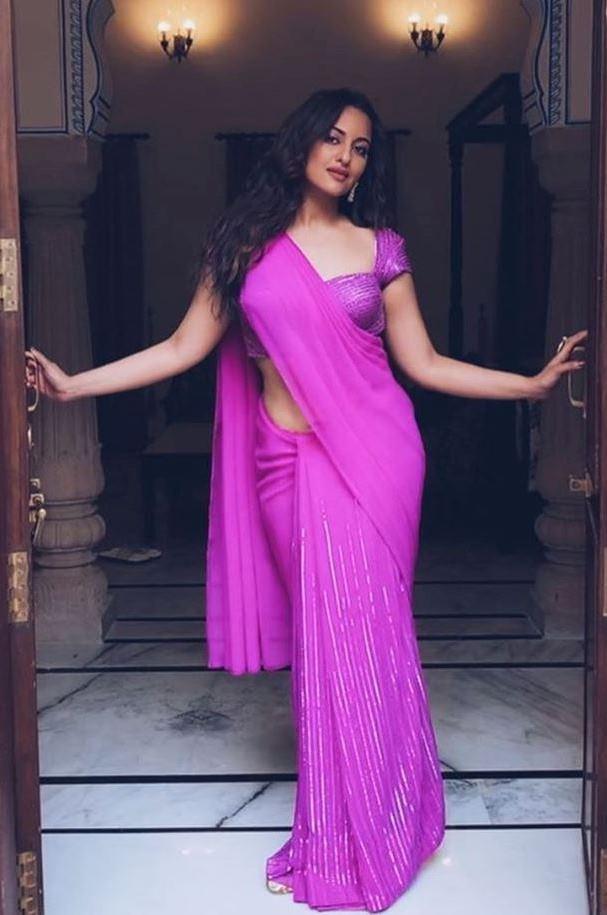 Sonakshi Sinha in Sari