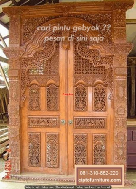 Model Depan Rumah Pintu Gebyok