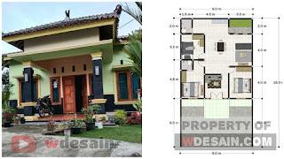 Desain rumah minimalis 9x16 Meter