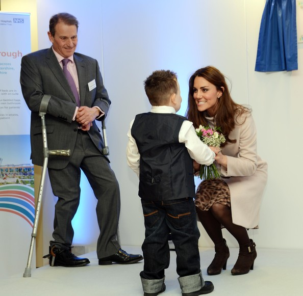 Prince William and Kate Middleton visited Peterborough City Hospital in Peterborough, met Emma Henson
