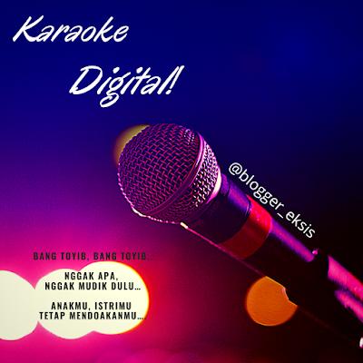kegiatan karaoke daring saat lebaran