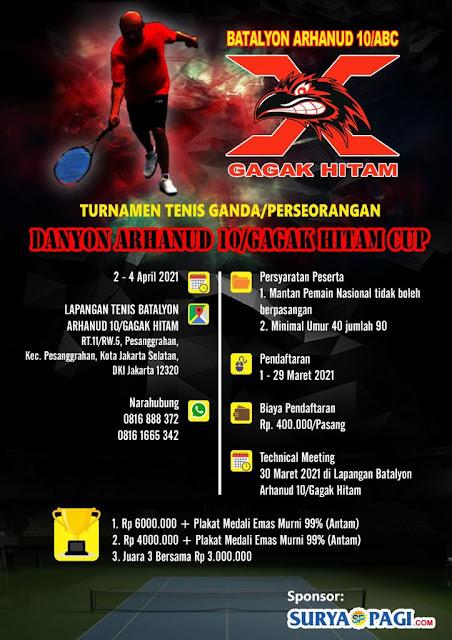 Kejuaraan Tenis Ganda dan Perseorangan Danyon Arhanud 10/Gagak Hitam CUP 2021