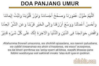 doa panjang umur