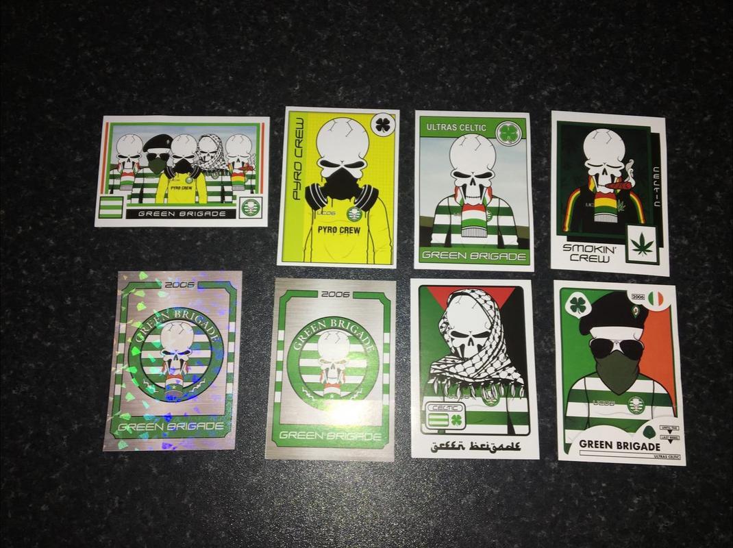 green brigade stickers - ultras avanti