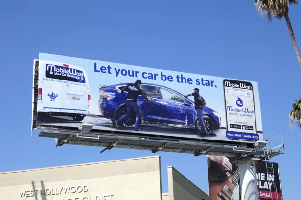 MobileWash Let car be star billboard