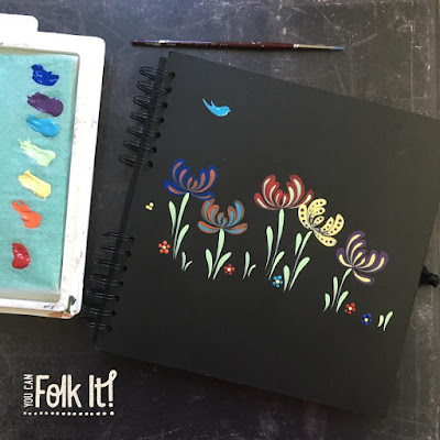 Handpainted flowers transformed by a bright and fun rainbow palette