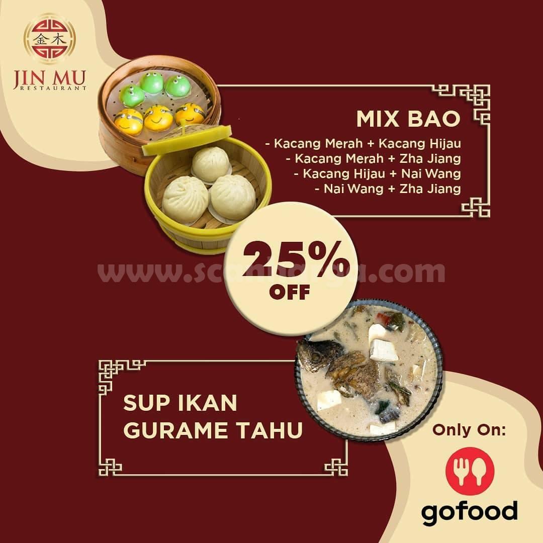 Promo Jin Mu Restaurant Diskon 25% Sup Gurame Tahu & Mix Bao Via Gofood