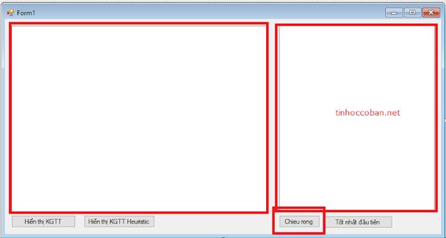 Form áp dụng thuật toán tìm kiếm chiều rộng -tinhoccoban.net