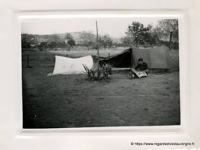 Camp Bottéro 1949 Bellerive, allier.