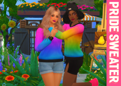 Pride Sweater (F+M) + Pride Eyeliner