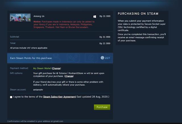 Cara Gift Game Steam ke Teman Dengan Mudah