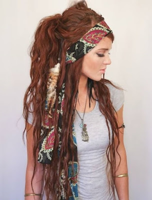 Bohemian Gypsy Hairstyle for Long Hair