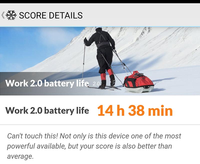 Galaxy A70 battery score