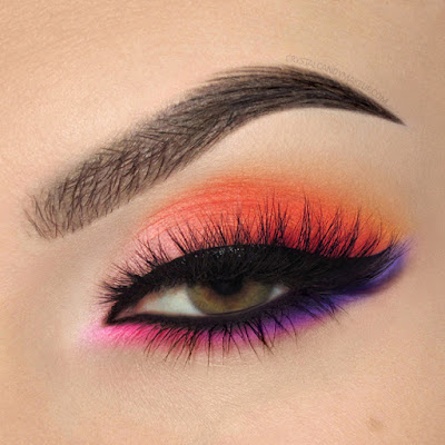 Eye Look Color Paints Bright Rainbow Make Up For Ever Esqido Lashes Grandiose