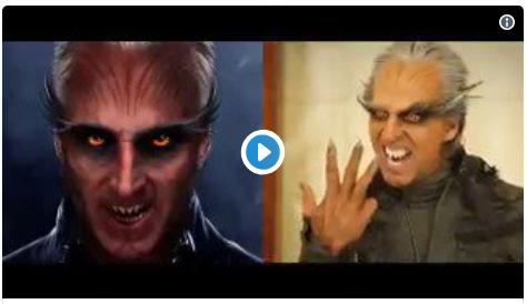 ROBOT 2.0 में अक्षय कुमार का मेकअप मेकिंग वीडियो देख कर आप भी कहेंगे वेल डान अक्षय कुमार