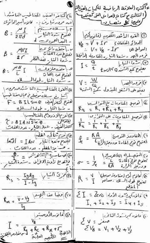 ملخص فيزياء ثالثة ثانوى في 19 ورقة فقط 1