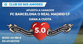 Paston Megacuota Liga Santander Gana Barcelona o Real Madrid 17-18 febrero