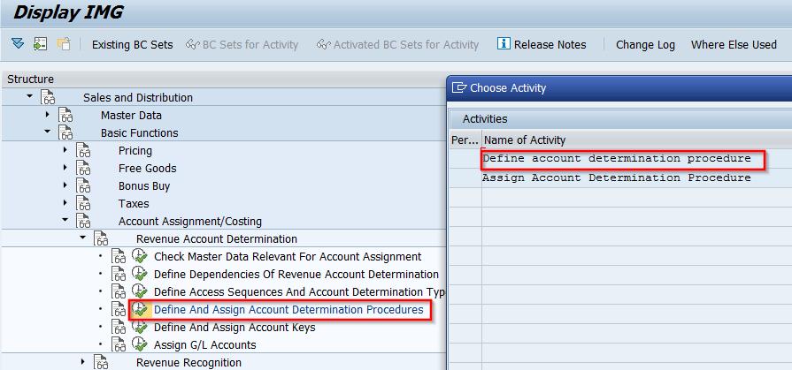 Revenue Account Determination - SAP SD