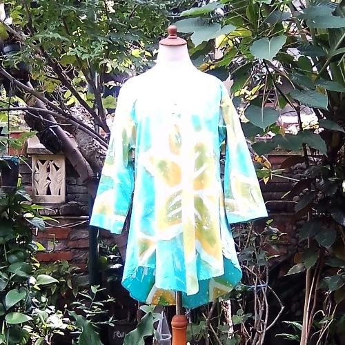 Baju Batik Gepyok Asli Warna Biru