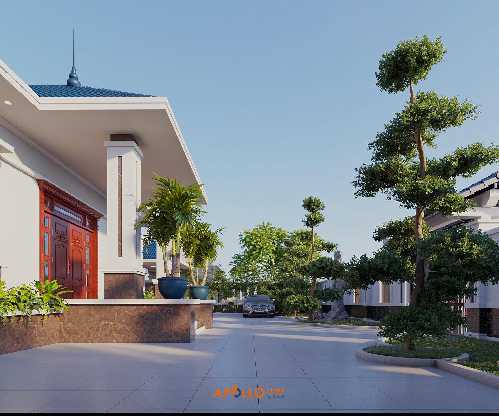 Thiết kế nhà vườn mái Thái 180m2 Bắc Giang