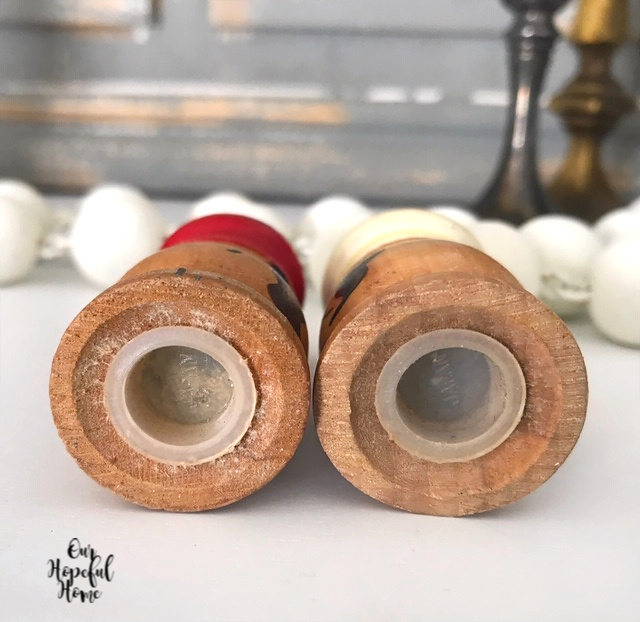 wooden shakers rubber stoppers
