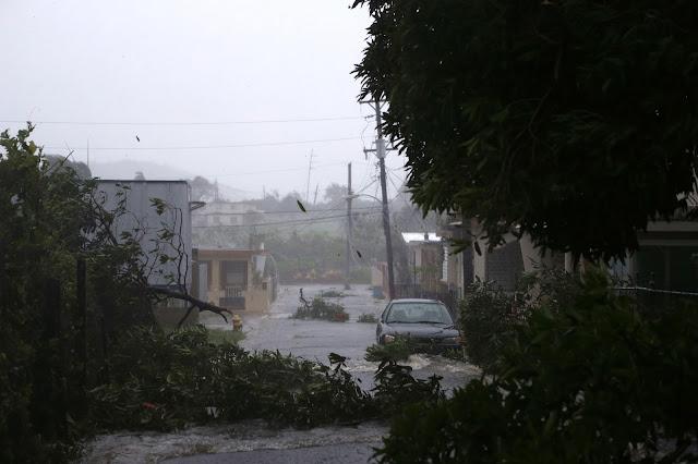 Furacão Irma entra no território de Porto Rico