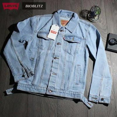 jaket jeans pria robek