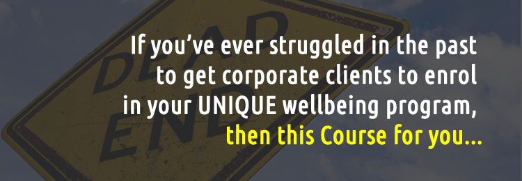 Get Corporate Clients for your Wellbeing Program - Course