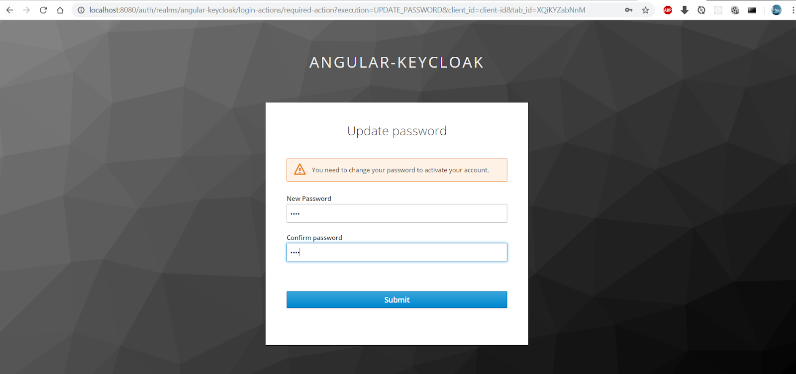 Quick start to secure Angular 4 app with Keycloak