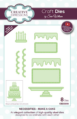 Creative Expressions Necessities Collection Make A Cake Dies CED23006