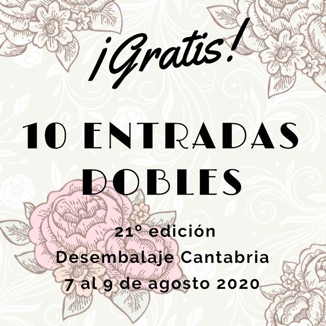 Gratis 10 entradas dobles para 21 desembalaje cantabria 2020
