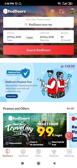 Aplikasi hotel redDoorz