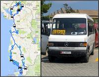 Itinéraire, transport et route en Albanie