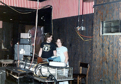 Badlands sound & lighting crew side stage March 15, 1979... opening night for the Circus Circus rock club!!