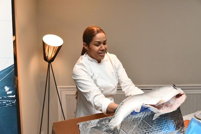 El salmón noruego KVITSØY se presenta en España de la mano de María Marte