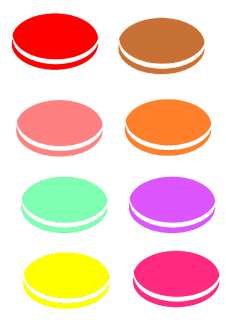Free macarons for use in personal or commercial projects