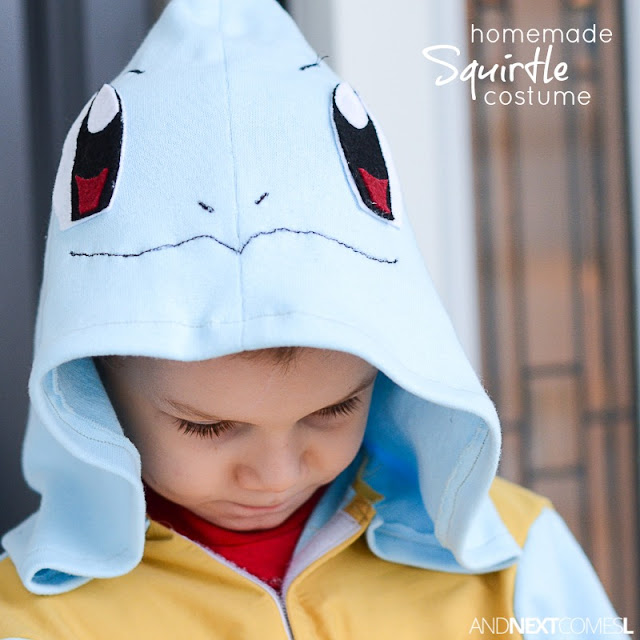How to make a homemade Squirtle Pokemon Halloween costume for kids from And Next Comes L