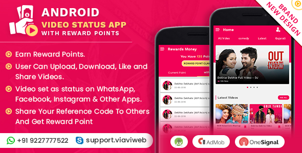Android Video Status App With Reward Points Nulled » Sozlerim Org