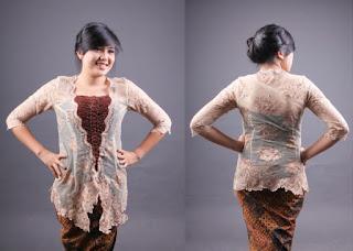 Foto Baju Kebaya Badan Gemuk Brokat Modern Motif Batik Ivan Gunawan